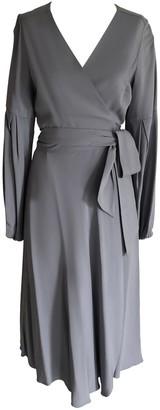 Onelady Midi Wrap Dress Blue - Estela