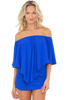 Luli Fama Cosita Buena Cover Ups Tassels Party Dress in Electric blue (L177981)