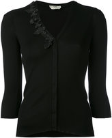 Fendi embroidered fitted cardigan - women - Silk - 42