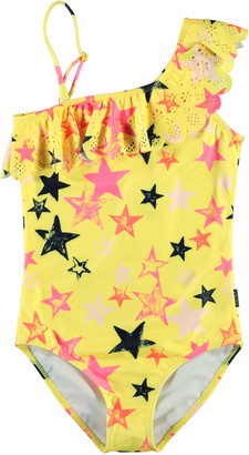 Molo Girl's Net Star Printed One-Piece Swimsuit, Size 4-14