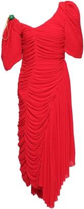 Preen by Thornton Bregazzi Kesia Asymmetric Ruched Plisse-crepe Dress