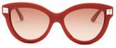 Valentino Women&s Rockstud Cat Eye Stud Sunglasses