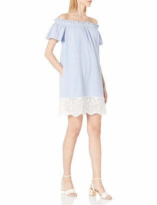French Connection Women's Belle Stripes Mix Dress