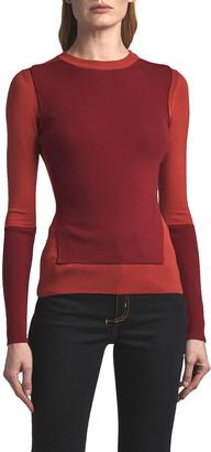 Alexander McQueen Patchwork Long-Sleeve Crewneck Sweater