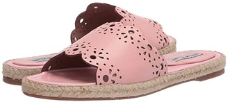 Tabitha Simmons Bobbin Slide (Pink Shiny Calf) Women's Shoes