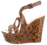 Alexa Wagner Ayers Snakeskin Wedges w/ Tags