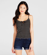 Aeropostale Striped Lace-Up Tank