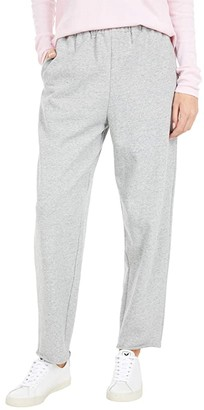 Lucky Brand Straight Leg Sweatpants (Heather Grey) Women's Casual Pants