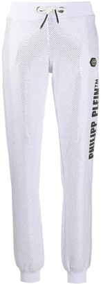 Philipp Plein Studded Cotton Blend Track Pants