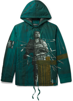 Undercover Printed Padded Shell Hooded Jacket