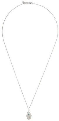 Sydney Evan 14kt white gold Hamsa diamond and turquoise pendant necklace