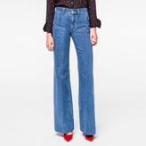 Paul Smith Women's Light-Wash Denim Bell Bottom Jeans