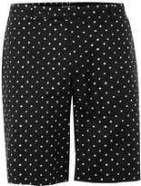 Topman Black and white Spotted Mid Length Formal Shorts