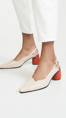 Reike Nen Mixed Turnover Slingback Pumps