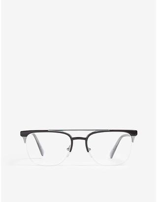 Prada Women's Black Pr63U54 Square-Frame Optical Glasses