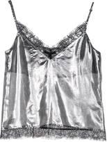 Leka Silver Silk Strap Top