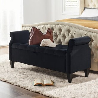Canora Grey Maconay Upholstered Flip Top Storage Bench Canora Grey Color: Anthracite