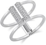 INC International Concepts Silver-Tone Pavé Bar Hinge Bracelet, Only at Macy's