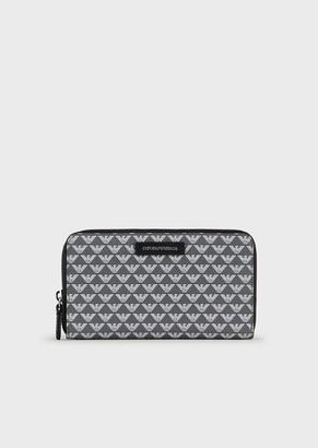 Emporio Armani Zip Wallet With All-Over Monogram
