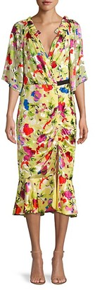 Saloni Floral Sheath Dress