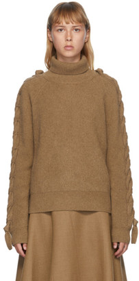 J.W.Anderson Brown Cable Insert Turtleneck