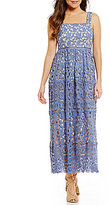 Gianni Bini Ainsley Apron Neck Lace Ankle Dress