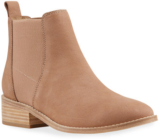 Eileen Fisher Blink Gored Leather Ankle Booties