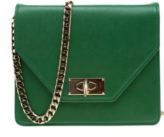 Givenchy Green Leather Shark Flap Crossbody Bag