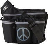 Diaper Dude Peace Messenger Diaper Bag - Black