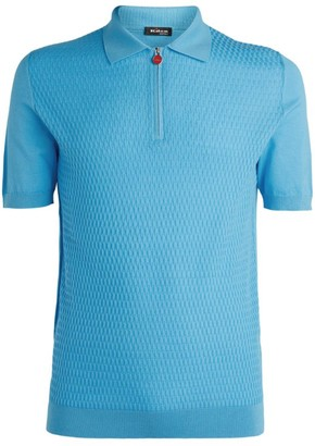 Kiton Cotton Knitted Polo Shirt