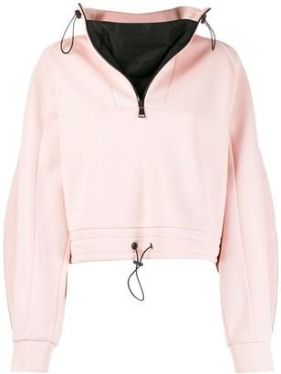 Karl Lagerfeld Paris Cropped Jersey Sweatshirt