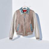 Tommy Hilfiger Metallic Leather Bomber Jacket