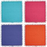 John Lewis Dakara Pom Pom Napkins, Set of 4, Assorted Colours