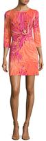 Trina Turk Tina Printed Back Tied Mini Dress