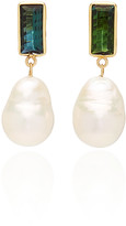 Objet A Objet-a Disco 18K Gold, Pearl And Tourmaline Earrings