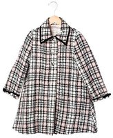 Helena Girls' Tweed Long Coat