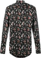 Dolce & Gabbana musical instrument print shirt - men - Cotton - 38