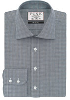 Thomas Pink Ward Check Super Slim Fit Button Cuff Shirt