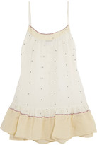 Mes Demoiselles Otto Embroidered Cotton-voile Camisole - Ivory