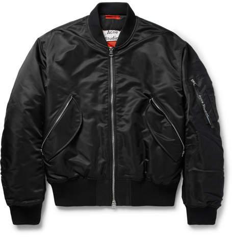 Acne Studios Mayo MA-1 Shell Bomber Jacket - Men - Black