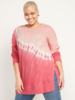 Old Navy Oversized Vintage Specially Dyed Tunic Sweatshirt for Women