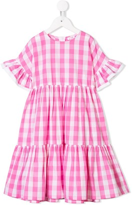 Il Gufo Pink Checked Dress