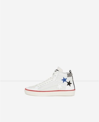 The Kooples High-top lace-up rock-style trainers w/stars