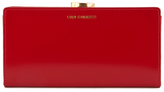 Lulu Guinness Women's Flat Frame Large Polished Calf Leather Purse Red