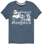 Instant Message Tee Shirts HEATHER - Heather Blue Rushmore 'Original Gangsters' Tee - Toddler & Kids