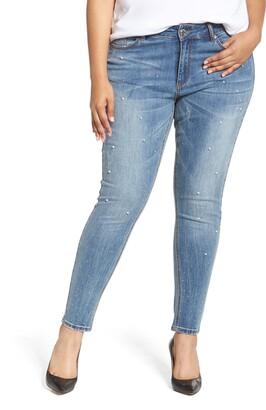 Seven7 Embellished Skinny Jeans