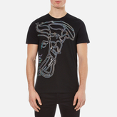 Versace Collection Large Medusa Logo Tshirt - Black