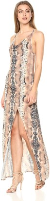 Haute Hippie Women's Sidewinder Cowl Maxi Dress
