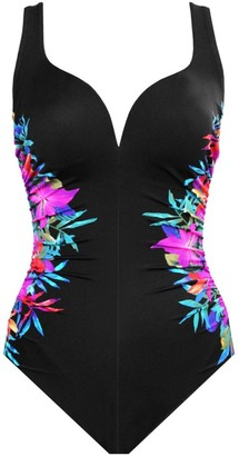 Miraclesuit Swim Genesis Temptress Floral Sweetheart One-Piece Swimsuit