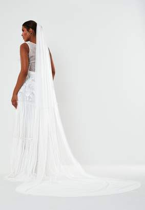 Missguided White Wedding Veil